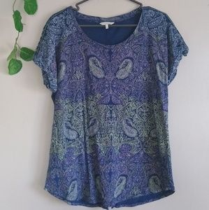 Lucky Brand Women's top Paisley print large